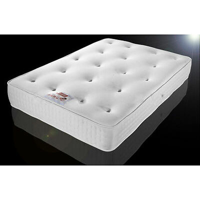 """12"""" TUFTED ORTHOPAEDIC MATTRESS DOUBLE 4FT6 5FT KING SIZE DAMASK COVER"""