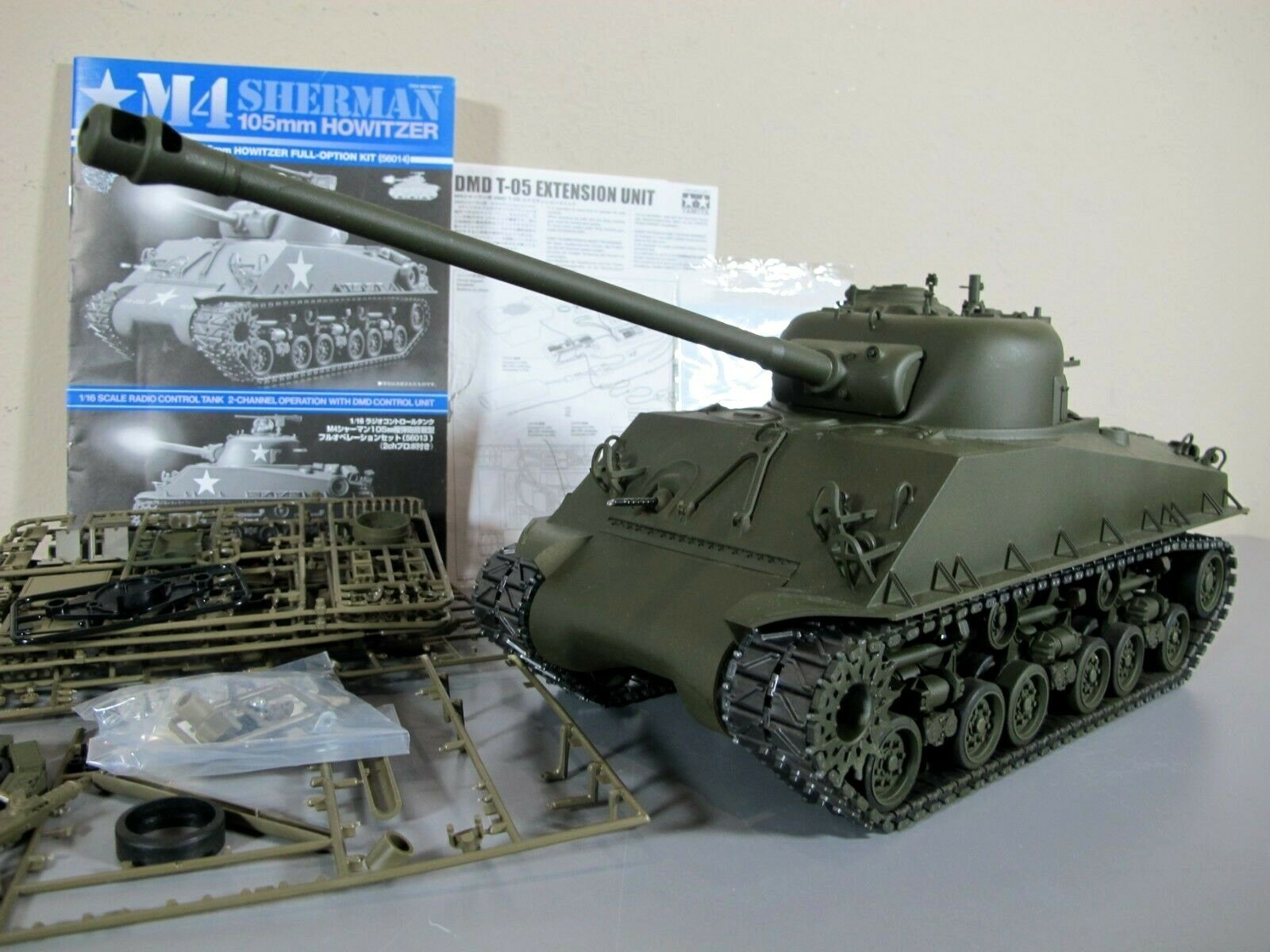 Tamiya 1  16 R C M4 Sheruomo 105mm Howitzer Full-Option Tank 56014 DMD Unit  più economico