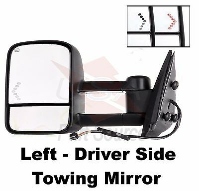 Mirror New Textured black Left Hand Yukon Full Size Pickup Chevy Driver Side LH