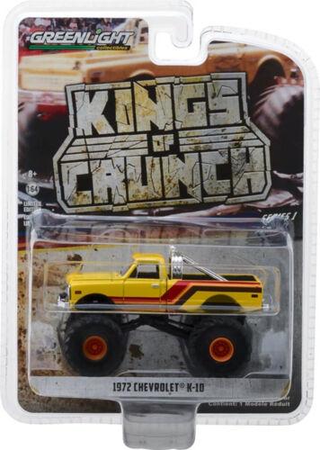 64 OVP 1972 Chevrolet K10 camiones monstruo amarillo Greenlight Reyes de contracción 1