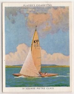 034-Water-Witch-034-30-Square-Meter-Class-Racing-Yacht-Sailboat-1930s-Ad-Trade-Card