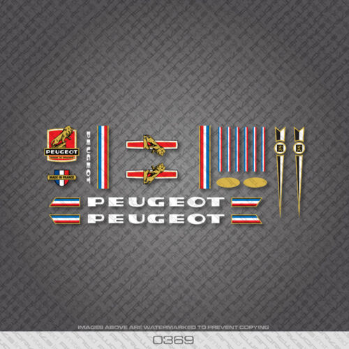0369 Peugeot Bicyclette Cadre Autocollants-Decals-Transfers