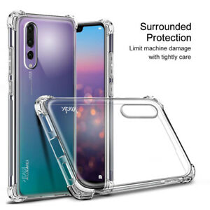 new products 50128 3b284 1x Clear Shockproof Slim Silicone TPU Cover Case For Huawei P20 Pro ...