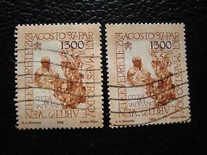 Vatican-Stamp-Yvert-and-Tellier-N-1125-x2-Obl-A28-Stamp