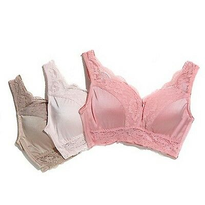 "Rhonda Shear ""Pin Up"" 3-pack Lace Leisure Bra 230113 Apricot (382340) NOW $17.99"