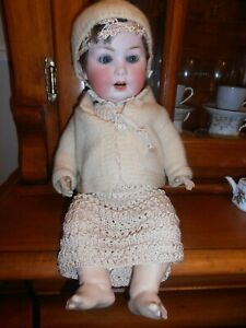 1920's German Pm 914,8 porzellanfabrik Mengersgereuth Bisque Head Doll Providing Amenities For The People; Making Life Easier For The Population