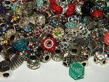 NEW 30/pcs Large Hole Fancy spacer charm European Beads LOT(Spc)