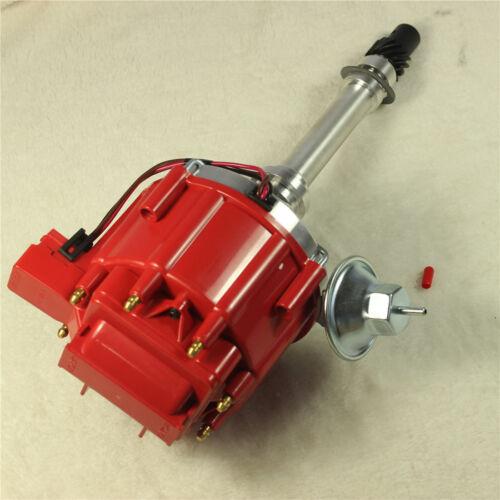 FITS SBC BBC 305 350 454 V8/'s HEI Distributor /& 10.5 MM RED 90 SPARK PLUG WIRES