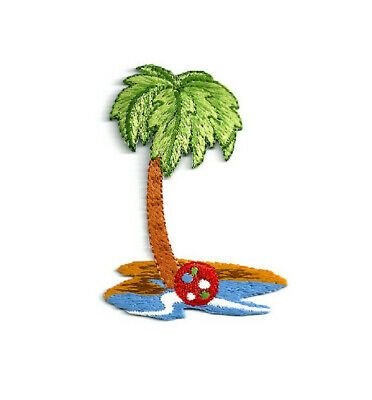 Mini Palm Tree//Tropical//Beach Iron on Applique//Embroidered Patch