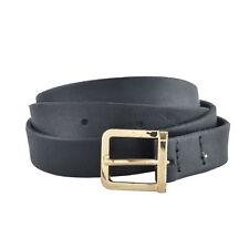 Dsquared2 Women's Black 100% Leather Skinny Belt Size S