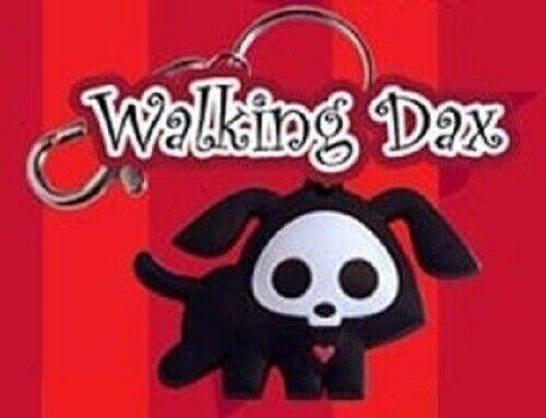 Walking Dax the Dog *NEW* Skelanimals Vinyl Key Chain Glow in the Dark