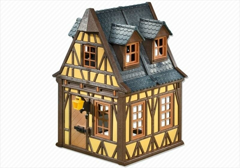 Playmobil Casa Medieval de madera amarilla tejado pizarra DS 7379 22