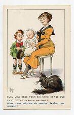 illustrateur MICH . BAMBINS ET BAMBINES . Chat Noir . Black Cat . Katze