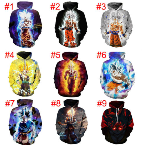 Dragon Ball Z Pullover Sweatshirts Son Goku Vegeta 3D Hoodies Outerwear Sweater