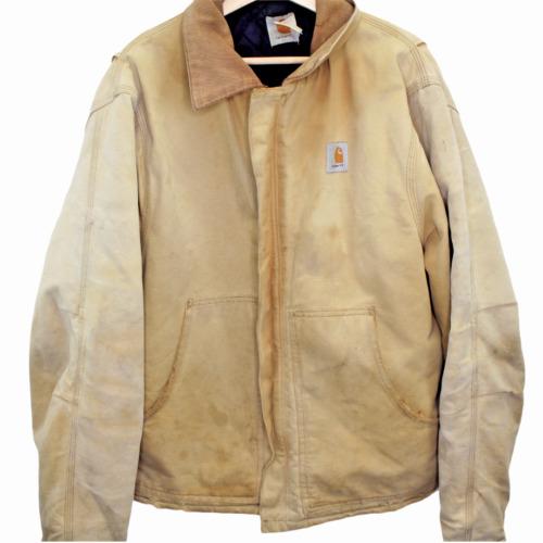 B154 Vintage Carhartt Chore Jacket Brown Denim Men