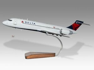 Collectables Boeing 717 Impulse Airlines Solid Dried Mahogany Wood Handmade Desktop Model