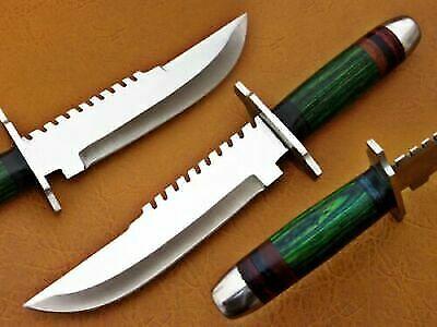 Unique knife Custom Handmade D2 Steel Hunting Army Dagger With Dollar Sheath