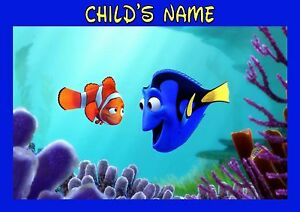 Childrens-kids-A4-personalised-Finding-Dory-dinner-mat-placemat