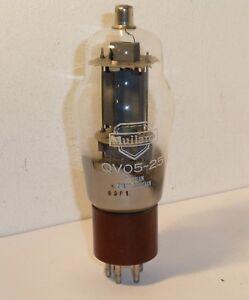 RARE MULLARD QV05-25 VALVE , Made in Great Britain .14.5cm tall inc the pins