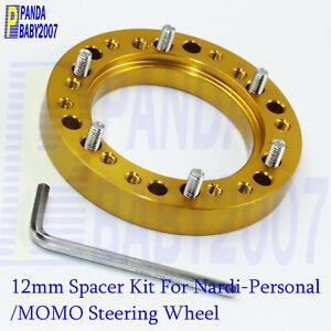 1//2 Steering Wheel HUB Adapter Spacer for NARDI Personal SPARCO OMP MOMO Black