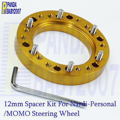 12mm 1//2 Black Steering Wheel Adapter Spacer for MOMO OMP to NARDI Hub