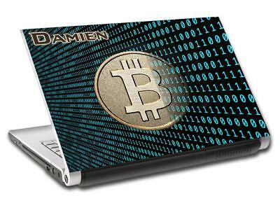 Bitcoin Cryptocurrency Personalized LAPTOP Skin Cover Decal Vinyl Sticker L757