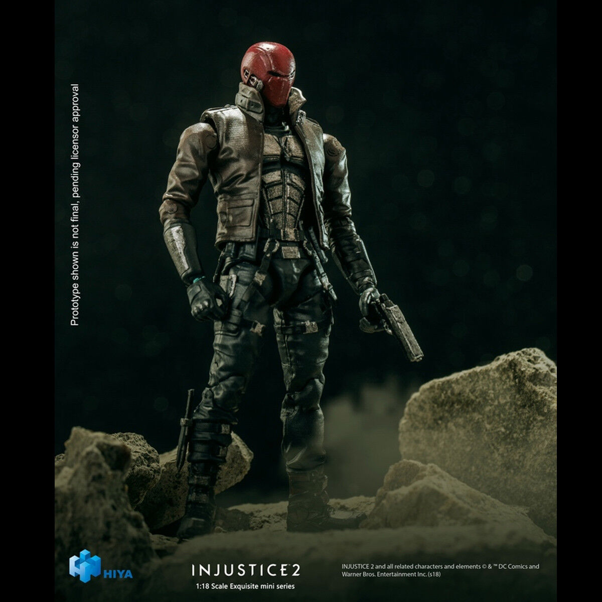 HIYAToys LD0033 1 18 Scale Injustice 2 Basic Red Hood Figure