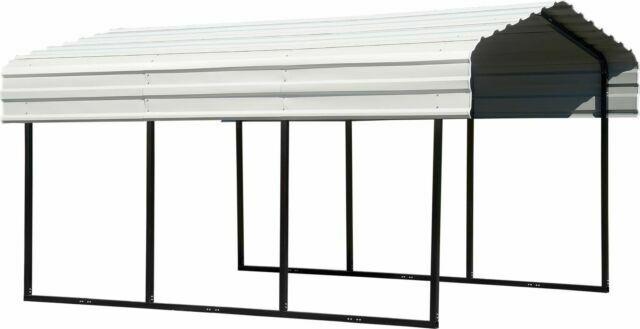 Arrow CPH101507 10 x 15 x 7ft Steel Carport - Eggshell for ...