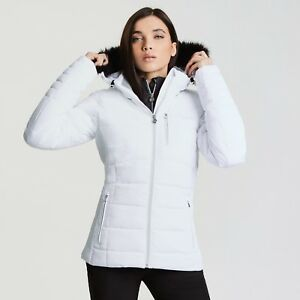 3041a56f7bcf Image is loading Dare2b-Womens-Curator-White-Ski-Jacket-Ladies-NEW-