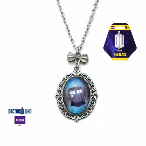 Officially Licensed Doctor Who Victorian Style TARDIS Cameo Necklace *NEW*