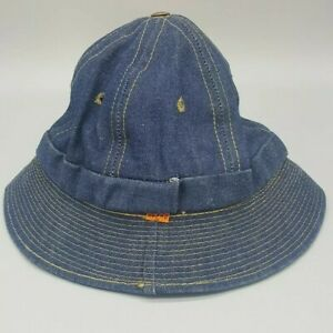 a84aa29003a55d Vintage LEVIS Orange Tab DENIM BUCKET HAT Small 6 1/2-6 5/8 Blue ...
