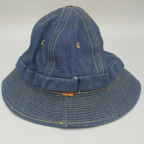 Vintage LEVIS Orange Tab DENIM BUCKET HAT Small 6