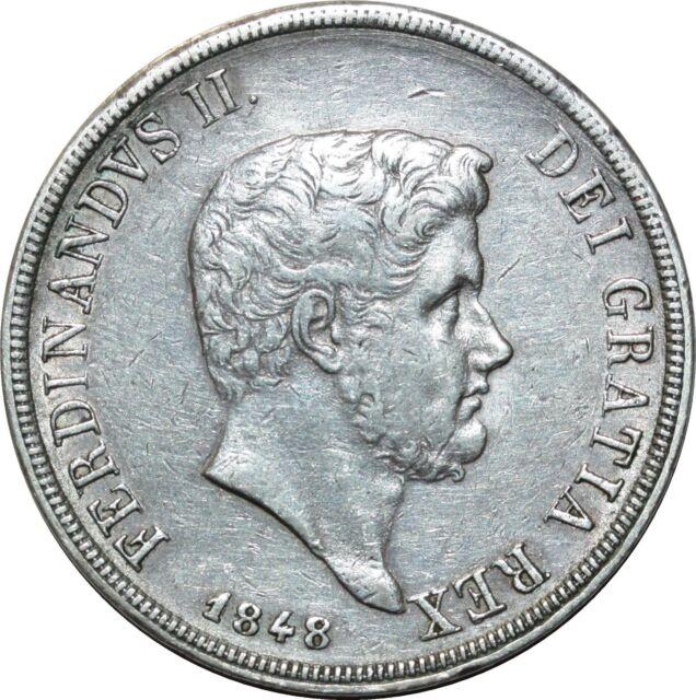 O1802 Italie Ferdinando II di Borbone 1830-1859 Piastra 120 Grana 1848 Silver