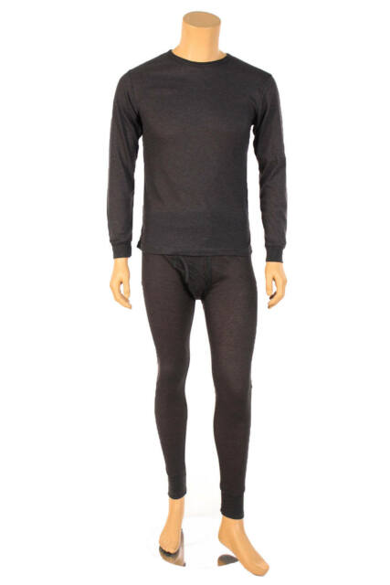 87b9fea20f4 Mens 2-pc Thermal Underwear Set Waffle Knit Long Johns Top and ...