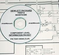 Hp 70001a Mainframe Clip (schematics +parts List & Locator Diagrams) Manual