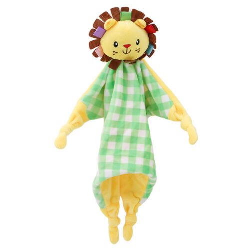 Baby Soft Towel Soothing Toy Rattle Plush Security Blanket Stuffed Animal Toys G