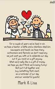 Image Is Loading Brand New Wedding Poem Cards Money Cash Gift