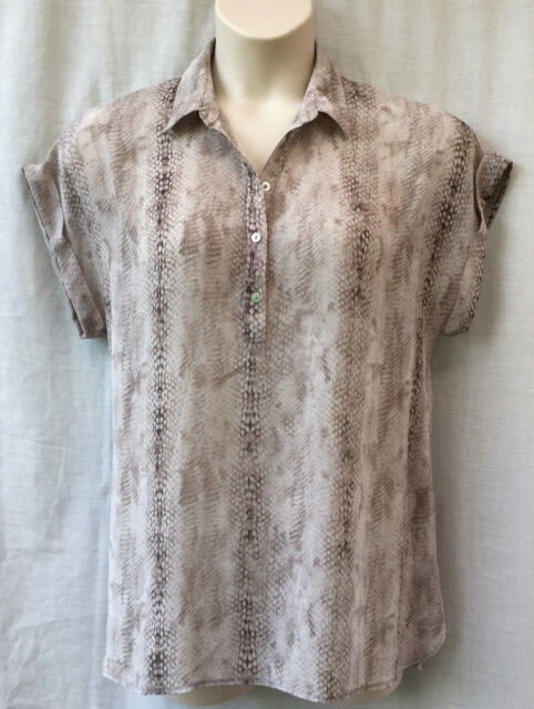 Target Size 16-18 Top Blouse Shirt Cap Sleeve Animal Print Work Smart Casual
