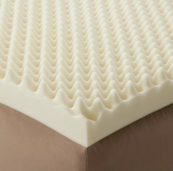 Twin Bed Padding 72 L x 34 W x4 Inch Soft Foam Mattress Egg Crate Overlay NEW