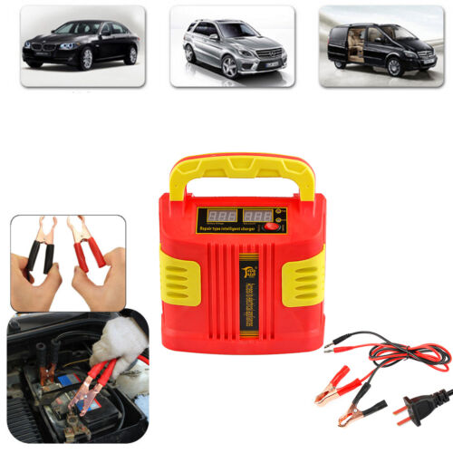 12V//24V LCD Auto Car Battery Charger Power Bank Jump Starter Portable 350W 200A