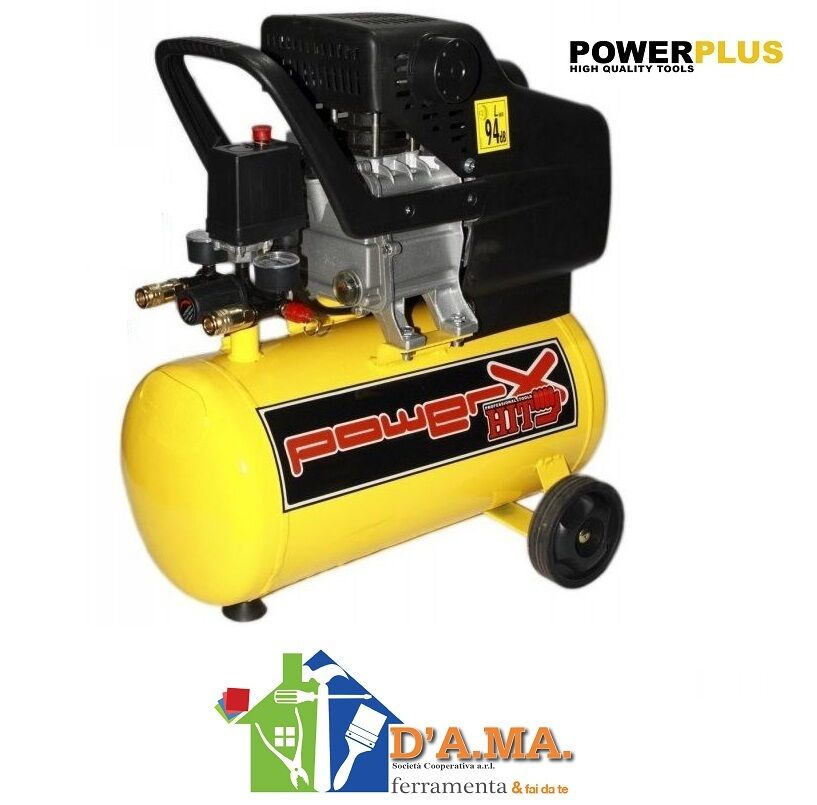 COMPRESSORE 24 LT HIT POWER X 2 HP 8 BAR 1500W