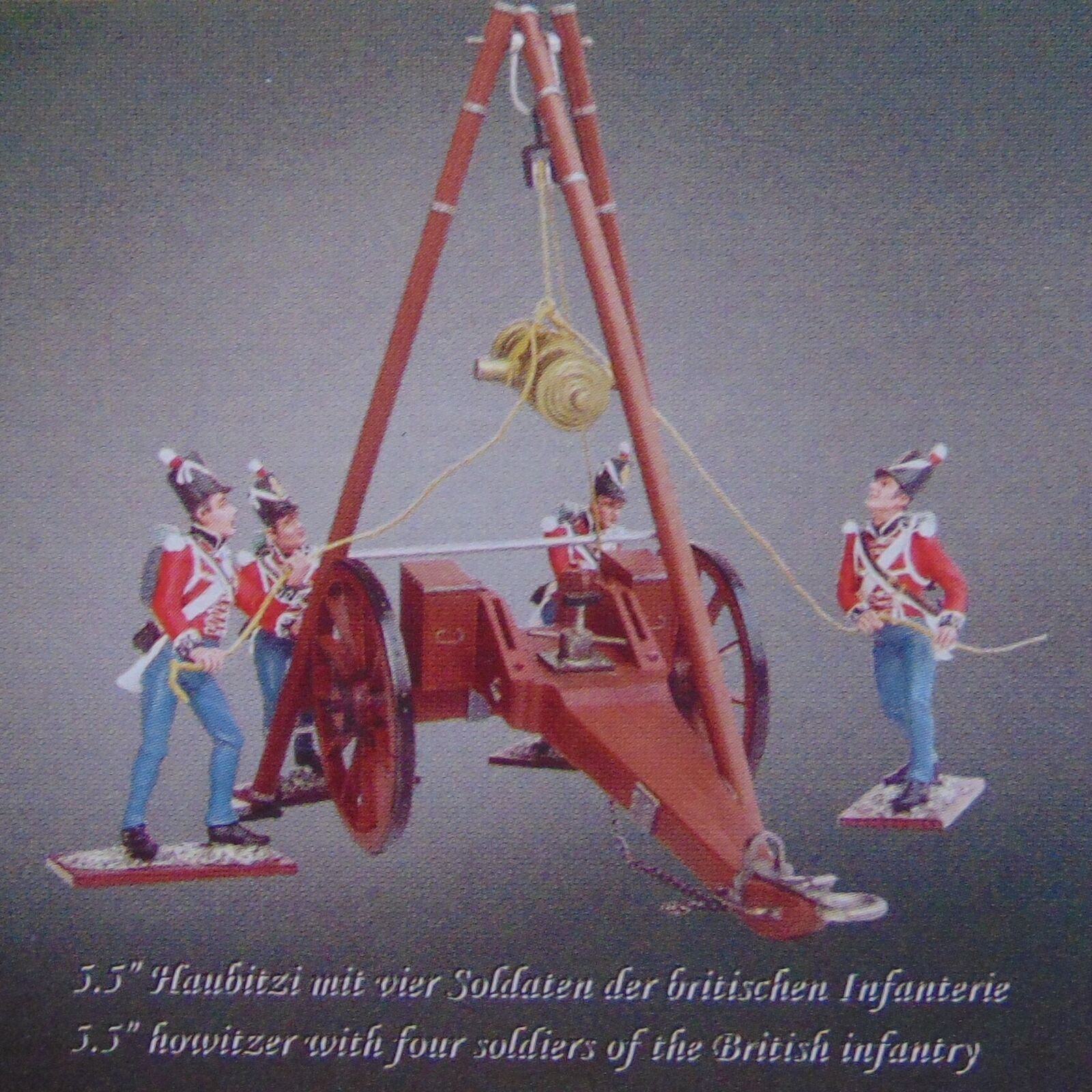 4 figuras Distler Waterloo-serie  British artillery 5,5  cuba  1 24 _