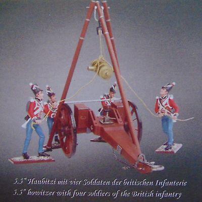 """4 Personaggi Distler Waterloo-serie * British Artillery 5,5"""" Fradicio * 1:24 _-mostra Il Titolo Originale I Colori Stanno Colpendo"""