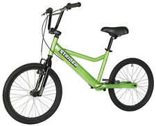 "STRIDER™ 20"" Sport Balance Bike GREEN 26.5 - 32.25 Inseams  with Rear Brake"