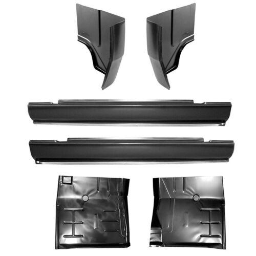 72-93 KIT Dodge Slip-On Rockers Regular Cab Corners /& Floor Pans Ram Truck L/&R