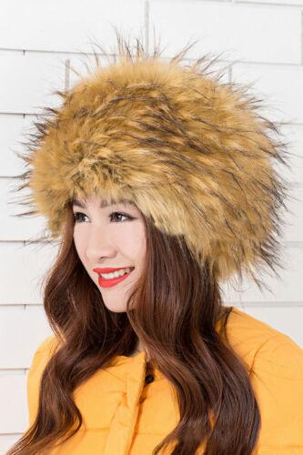 2018 Donna Caldo Pelliccia Finta Pelliccia di Volpe Cappello Donna INVERNO RUSSO COSACCO Cappello Fashion