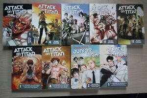 Attack-on-Titan-1-4-10-11-13-Before-the-Fall-1-4-Lot-of-9-Shonen-Manga