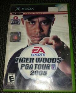TIGER-WOODS-PGA-TOUR-05-XBOX-COMPLETE-W-MANUAL-FREE-S-H-E