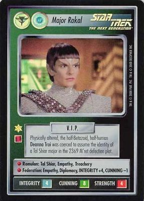 Star Trek CCG Reflections Deanna Troi SRF Super Rare Foil