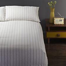 Orla Kiely Tiny Stem Leaf Gray King Set Duvet Cover + 2 PC Pillow Shams NEW $200